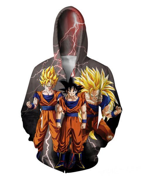 DragonBall Z Goku Hoodie Jacket 3D Printed
