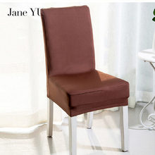 JaneYU Solid Color Chair Covers Spandex White Elastic Colorful Printing for Chairs Wedding Dinner