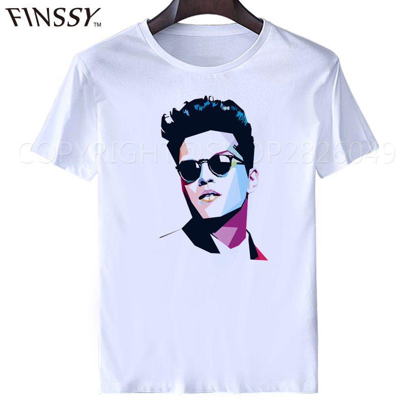 bruno mars T-shirt Fashion casual summers
