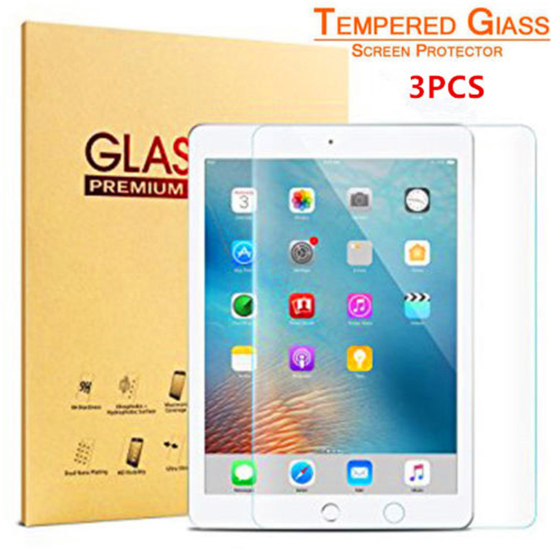 Tempered Glass Screen Guard For iPad Pro 12.9 (2017) Straight Edge Smooth safe to use Secure Anti-explosion Function(3pcs)