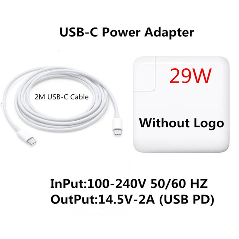 29W USB-C Power Adapter Type-C PD Fast Charger A1882 For Apple Test For Latest Macbook Pro 12-inch A1534 1540 1646 Made In 2015
