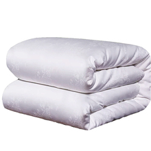Super Soft Mulberry Silk Summer Blankets 100% Real Filling Jacquard Comforter Twin Full Queen King Size Quilts