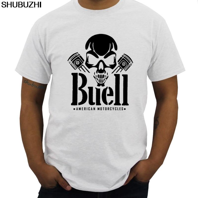 Skull Piston S M L XL XXL 3XL NEU T-Shirt Fashion Man Buell American Motorcycles