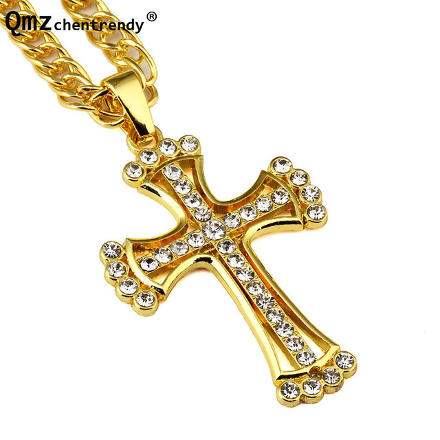 New trendy simple titanium large jesus gold cross pendant necklace new trendy simple titanium large jesus gold cross pendant necklace men hip hop crucifix christian male aloadofball Images
