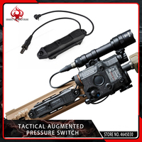 Element Airsoft Tactical Augmented Pressure Mount Double Control Switch for Softair PEQ and Flashlight 20mm Picatinny Rail Black