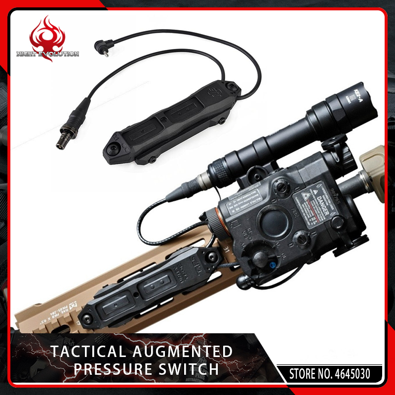 Element Airsoft Tactical Augmented Pressure Mount Double Control Switch for Softair PEQ and Flashlight 20mm Picatinny Rail Black in Scope Mounts Accessories from Sports Entertainment
