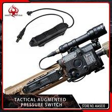 Elemento táctico Airsoft montaje de presión aumentada interruptor de Control doble para Softair PEQ y linterna 20mm riel Picatinny negro