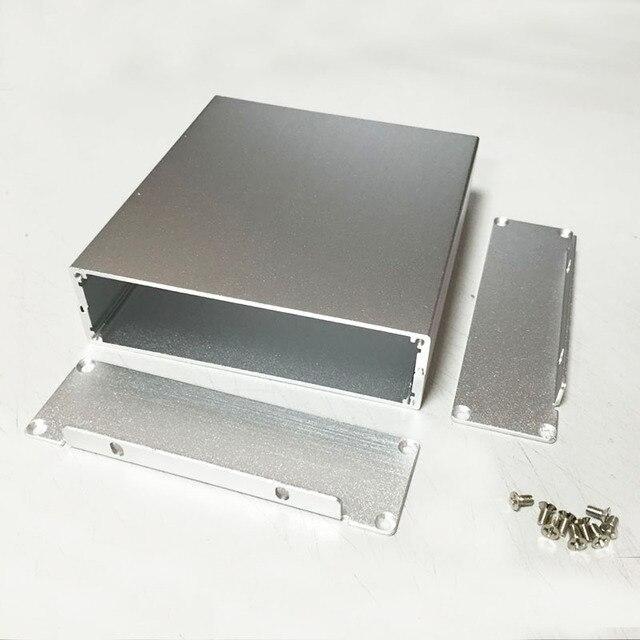 "Caja de la caja de shell Instrumento caja de aluminio PCB 114 (4.48 "") X33 (1.29"") X120 (4.72 "") mm DIY tipo separado"