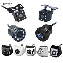 TOSPRA Auto Videocamera vista posteriore 4/8 LED Night Vision Telecamera di Retromarcia Parcheggio per Automobili Monitor CCD Impermeabile 170 Gradi HD Video Videocamera per auto