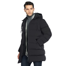 winter men's medium and long cotton padded clothes, thickened windproof self repairing cotton padded jacket, big code jacket