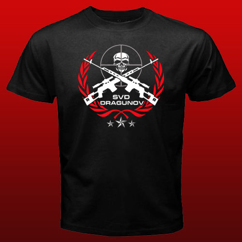 SVD Dragunov Russian Sniper Elite Riffle T shirt men army Force t gift Casual tee USA
