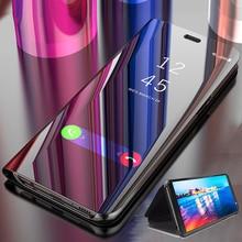 Smart Mirror Flip Case For iphone 7 8 Plus X XS Max XR Phone Case For iphone 6 6S Plus 5 5S SE 7 8 Smart Mirror Clear View Cover рубашка мужская columbia katchor ii short sleeve shirt цвет голубой 1577778 440 размер xl 52 54