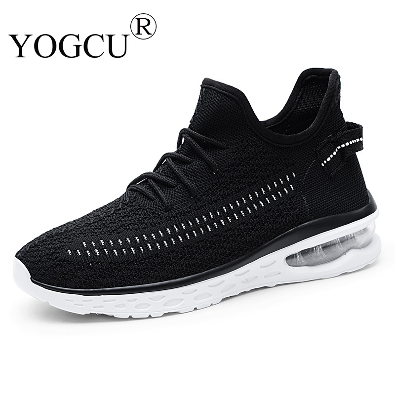 Mens Sports Shoes Non-slip Cushion Damping Outdoor Tourism Flying Woven Breathable Superstar Running Shoes