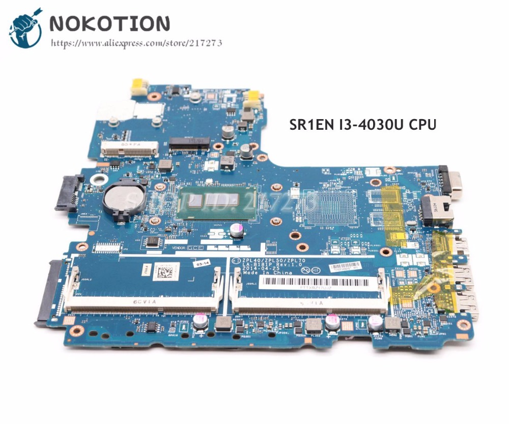 NOKOTION 768057-601 768057-001 For HP Probook 440 G2 <font><b>450</b></font> G2 Laptop Motherboard ZPL40 ZPL50 ZPL70 LA-B181P SR1EN I3-4030U CPU image
