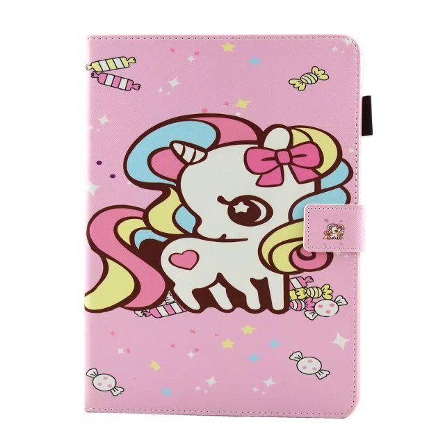 Fashion Cartoon Painted PU Leather Stand Shell Case Cover For Apple IPAD Air 1 2 Cases