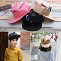 2017 Fashion Children Hip Hop Baseball Cap Summer kid Sun Hat Cartoon cat skin Boys Girls snapback Caps 2-8 years old