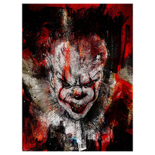 Diy Diamond Painting Cross Stitch Halloween clown skull 5D Square Mosaic Decor Full Embroidery