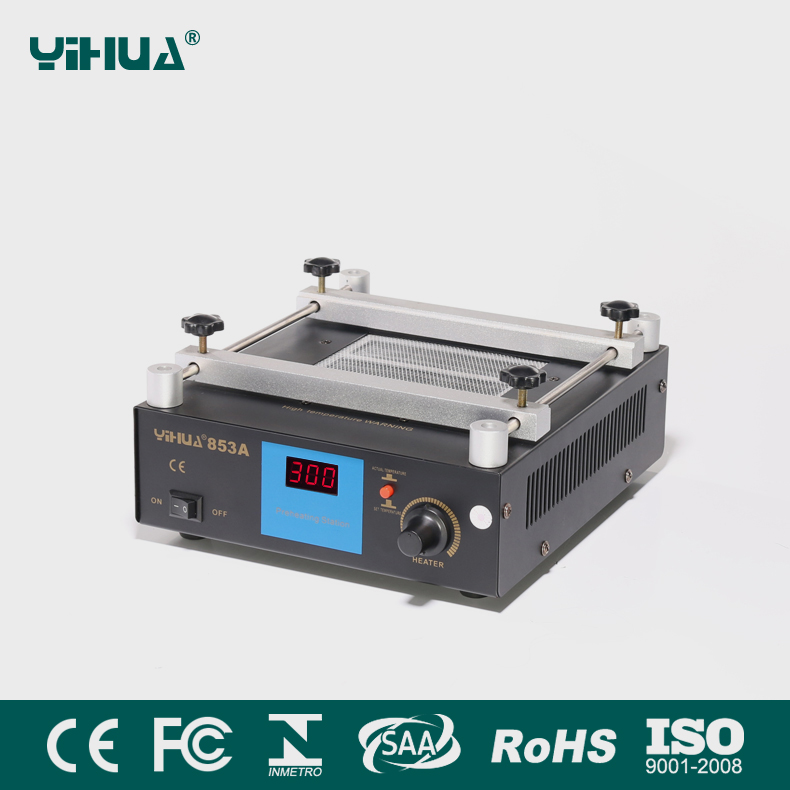 YIHUA 853A BGA Digital display Constant temperature lead-free preheating SMD Rework Soldering Stationstations 110V/220V EU/US 853a bga constant temperature lead free preheating stations