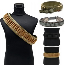 CQC Outdoor Tactical 30 Rounds 12 Gauge Ammo Holder Cartridge Shoulder Belt Military Airsoft Hunting Shell Bandolier Waist