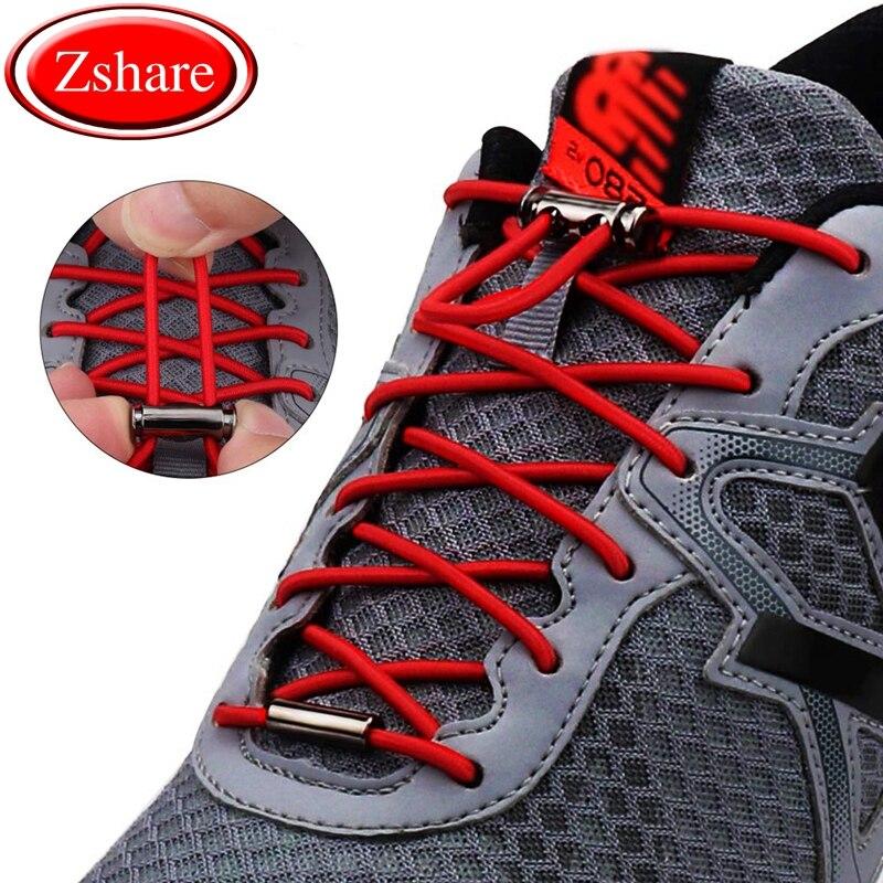 1Pair / fashion elastic shoelaces metal spring buckle lazy shoelace convenient quick no tie shoe laces unisex lock laces1Pair / fashion elastic shoelaces metal spring buckle lazy shoelace convenient quick no tie shoe laces unisex lock laces