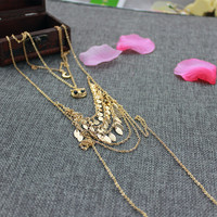 Free Shipping Fashion Woman Necklacemultilayer Owl Necklace PendantTrend Personality