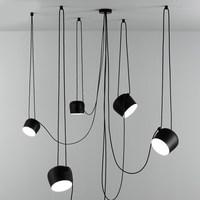Modern Black Drum Pendant Light LED Aluminum Hanglamp for living room kitchen fixture suspension luminaire lighting pendant lamp