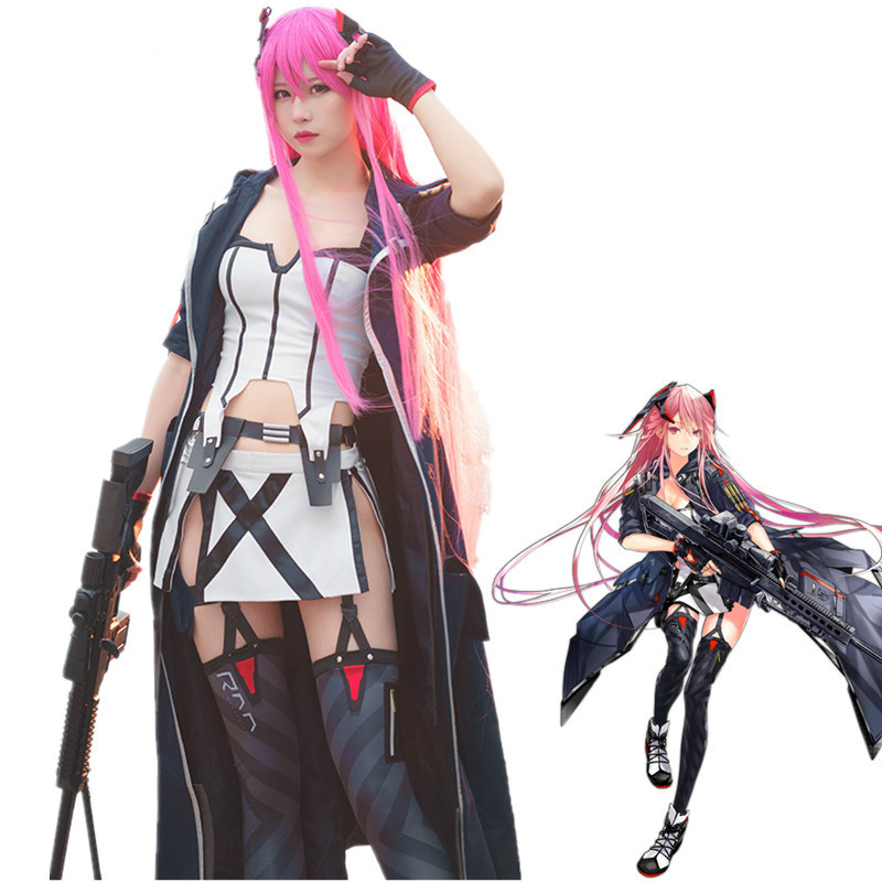 Game Girls Frontline M82A1 Cosplay Costumes Ump45 Uniform Carnival Outfit Full Set Synthetic Wigs Hair For Women Girls Clothing