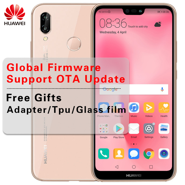 "Global Firmware 5.84"" Huawei P20 Lite 4GB RAM 64GB/128GB Android 8.0 Smartphone Kirin 659 Octa Core 24.0MP Camera FHD+ 2280x1080"