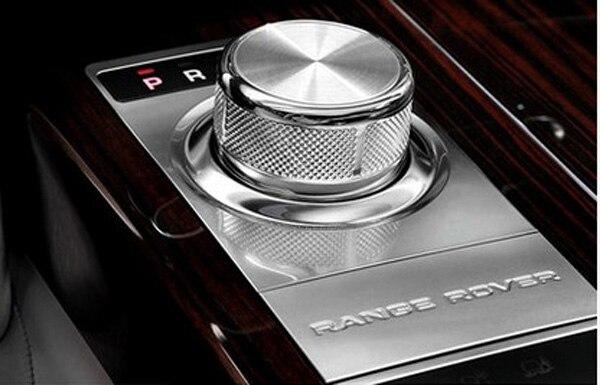 Chrome Car Gear Shift Knob Cover Trim Car Interior Accessory For Range Rover Vogue SE Upgrade to SV Decoration Sticker Styling