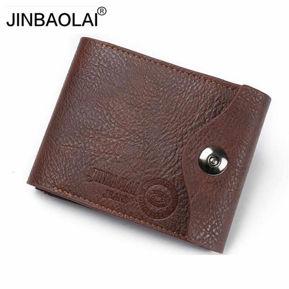 d7b438ea50fc Роскошный дизайнерский Известный Бренд портфель короткий Perse мужской  кошелек клатч кожаные маленькие мужские портмоне Walet Cuzdan