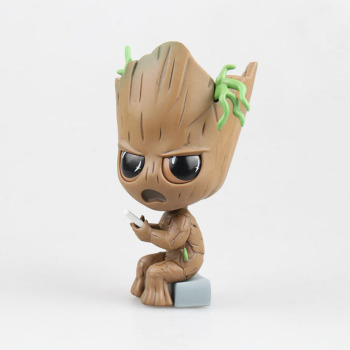 Guardians of The Galaxy Avengers Cute Baby Tree Man with Bobble Head Action Figure Toys