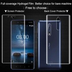 Pełne pokrycie dla Nokia 8 ochraniacz ekranu z powrotem naklejki Imak wszystkich stałych hydrożel 2 ochronne całego ciała film dla Nokia8