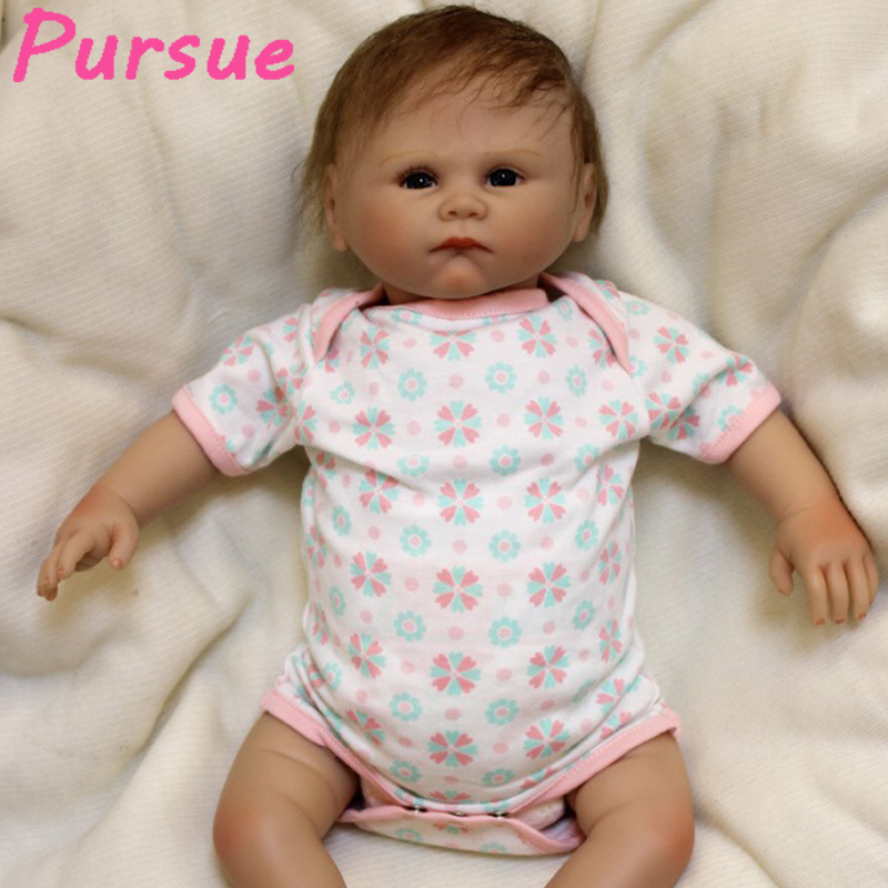 Pursue 53 cm Cute Real Lifelike Vinyl Silicone Realistic Baby Dolls Real Life Baby Dolls for Kids Reborn Baby Doll Toys for Sale lovely real like baby dolls reborn 23 soft silicone vinyl reborn baby doll toys realistic lifelike girl wear cute pink dress
