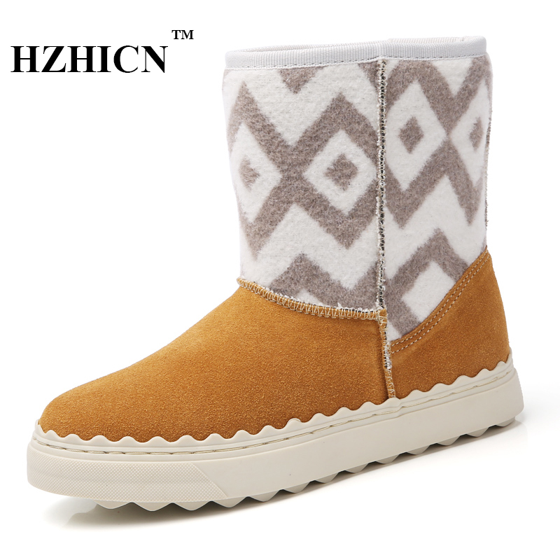 Women's Snow Boots Winter New Short Plush Fur Casual Shoes Leather Ankle Waterproof Boots Keep Warm Shoes Luxury Brand Moccasins