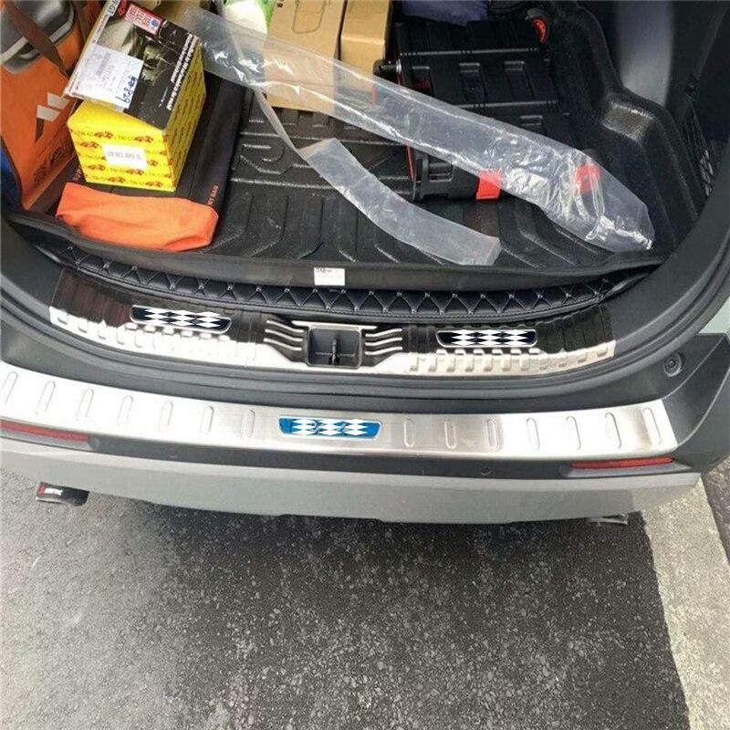 Fit Toyota Highlander 2018 stainless rear door plate bumper cover door sill trim
