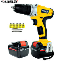 21V Professional Mini Cordless Electric Screwdriver Rechargeable Lithium Ion Battery Electric Electric Drill Power Tools