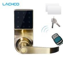 LACHCO умные электронные двери блокировка цифровой клавиатуры удаленного Управление, пароль, 2 карточки, 2 Ключи, сенсорный Экран блокировки ригеля L16092RM