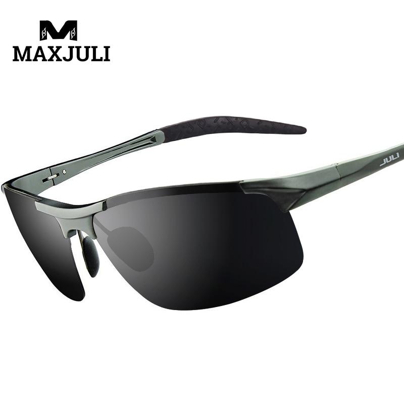 MAXJULI Polarized Sports Designer Sunglasses for Men Women Driving Baseball Cycling Fishing Golf Al-Mg Alloy Superlight