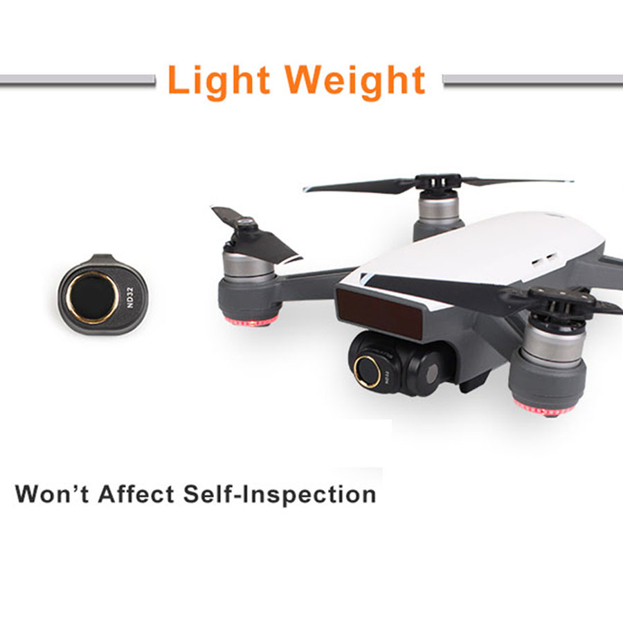 GuiPing 4 in 1 HD Drone Camera ND32 16//8 //4 Lens Filter Set for DJI Spark