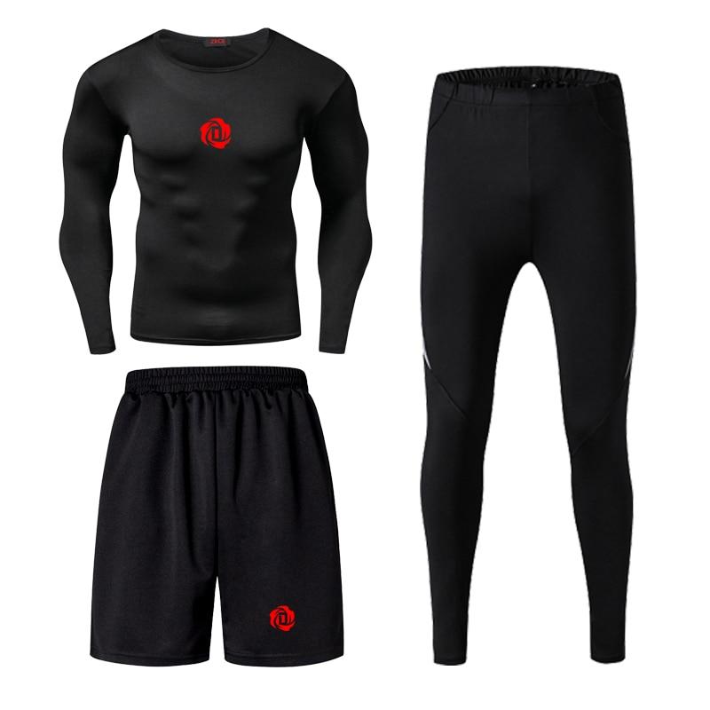 Jordan kobe james masculino aptidão wear collants treino de basquete secagem rápida três correndo roupas ginásio compressão conjuntos - 2