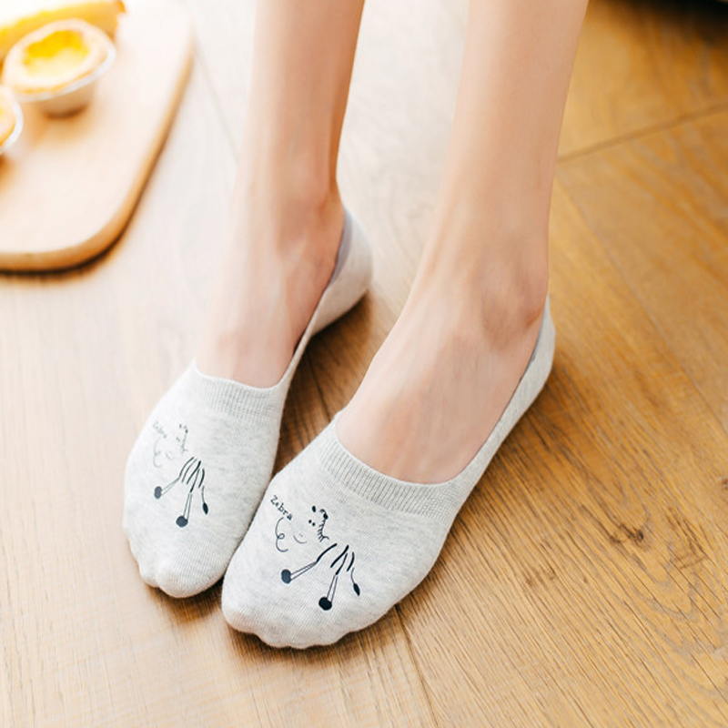 Unterwäsche & Schlafanzug 5 Paare/los Baumwolle Frauen Socken Hausschuhe Tier Cartoon-muster Boot Socke Für Sommer Atmungs Casual Mädchen Lustige Mode