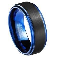 Мужские обручальные кольца 8 мм из карбида вольфрама свадебные