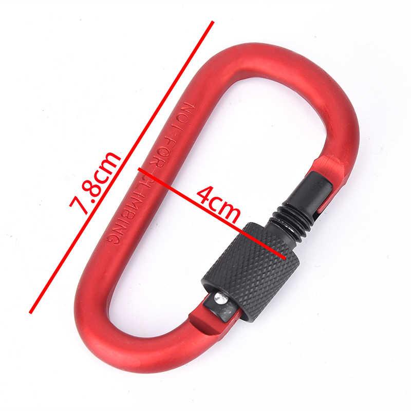 อลูมิเนียม Carabiner พวงกุญแจ Snap Hook ชุดเดินทางกลางแจ้ง D - Ring คลิปพวงกุญแจ Camping