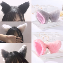 Cute Cat Ear Hair Clip Fur Ears Shape Hairpins Solid Color Barrettes Party Headwear For Women Ladies Hair Accessories cute solid color fishbone shape ring for women
