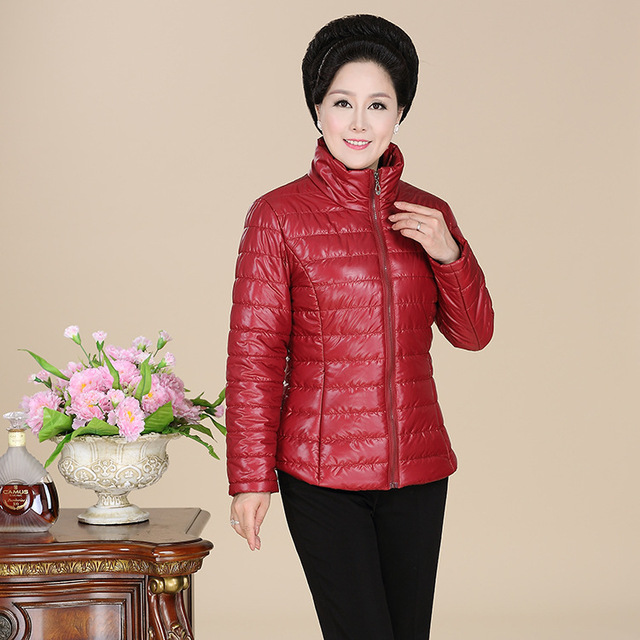 autumn winter coat middle-aged women padded coat short paragraph mom slim parkas jacket DX055