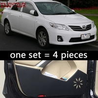 car door anti kick protection car styling accessories For toyota corolla axio 2007 2008 2009 2010 2011 2012 2013