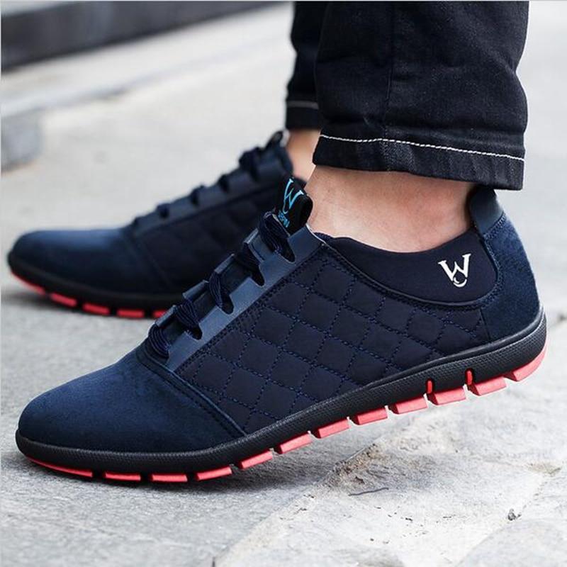 NEW 2019 Fashion Men Shoes Canvas Casual Soft shoes Lace Up Outdoor Men's Flats Breathable Shoes Zapatos Hombre plus size 39-47