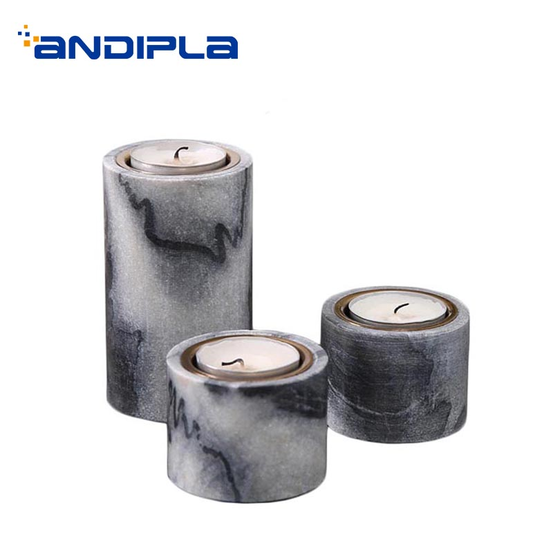 Modern Marble Candle Holder Restaurant Romantic Candlelight Dinner Table Light Aromatherapy Candles Base Decoration Art Crafts