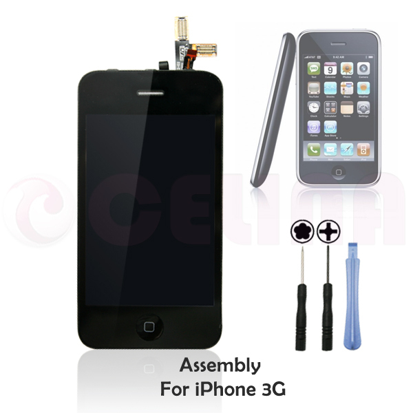 Brand New Touch screen digitizer LCD display assembly for iphone 3G ,Black, Free shipping