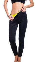 Длинные штаны для сауны, леггинсы из неопрена, облегающие супер эластичные брюки-Капри для фитнеса